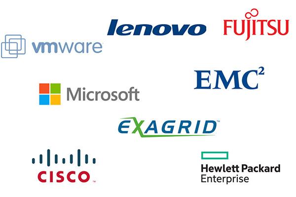 Wir als IT-Service in Düsseldorf, arbeiten mit folgende Hersteller