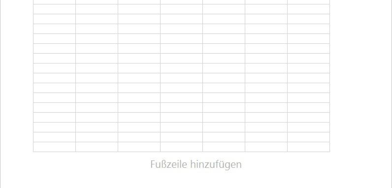 Excel 2016 Abbildung von Fußzeile hinzufügen