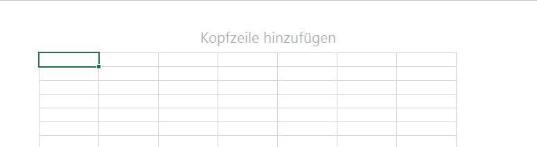 Excel 2016 Abbildung von Kopfzeile hinzufügen