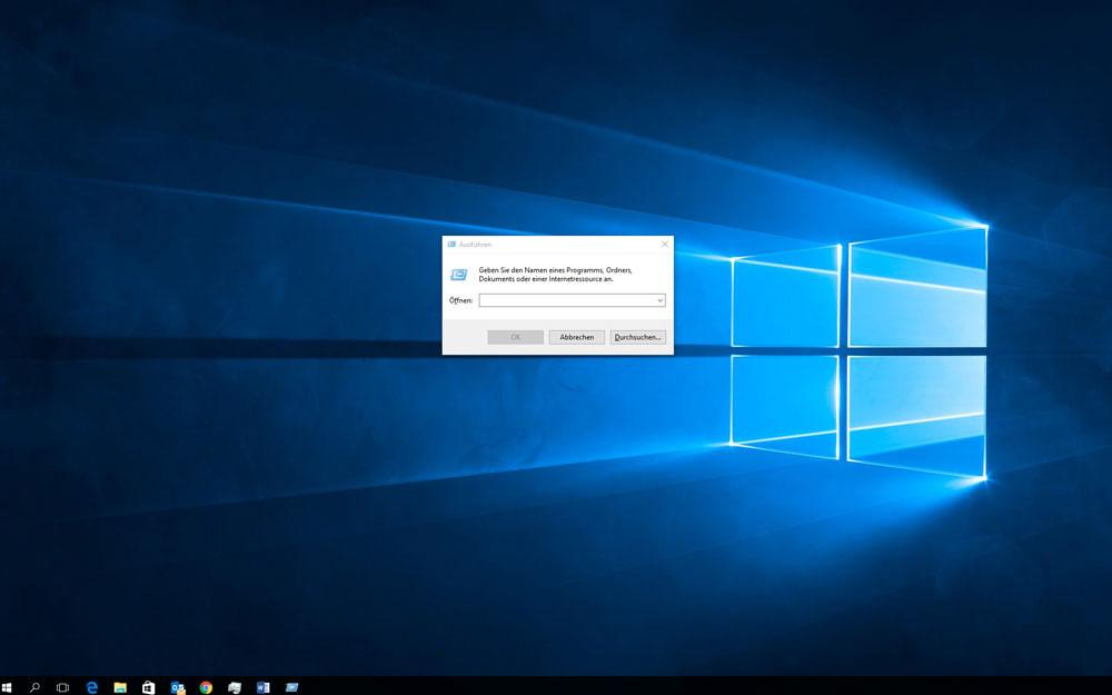 Mit ausführen Windows 10 schneller machen