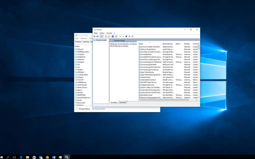Mit dienste Windows 10 beschleunigen