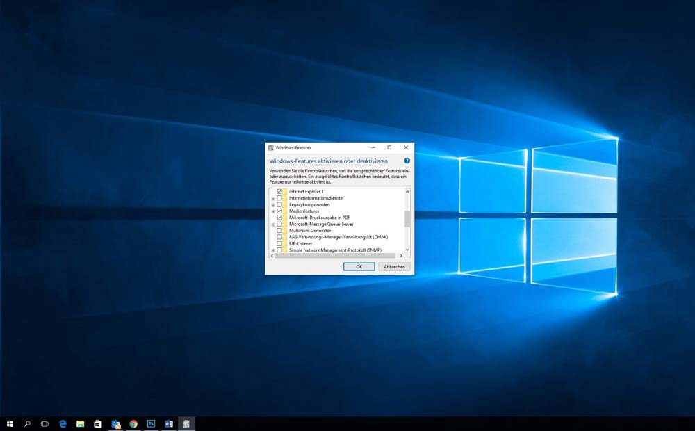 Windows 10 Intenet Explorer ausschalten