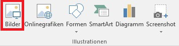 Word 2016 Illustrationen Tab Abbildung