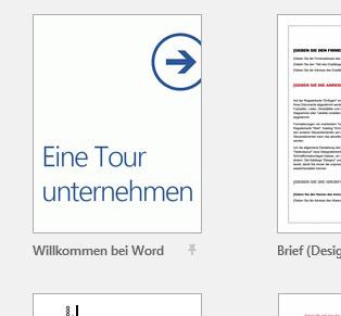 Word 2016 Eine Tour unternehmen Layout Abbildung