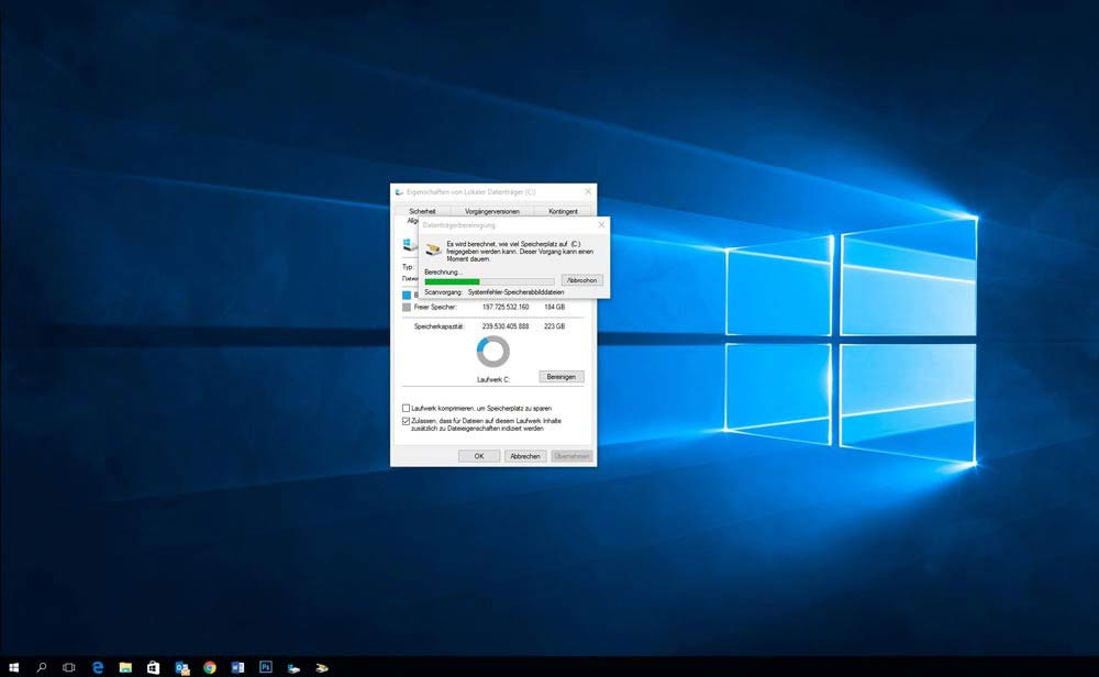 Windows 10 Datenträger säubern