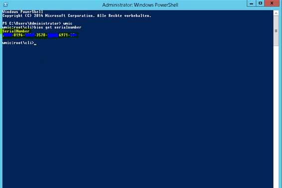 Seriennummer auslesen über die Windows Konsole