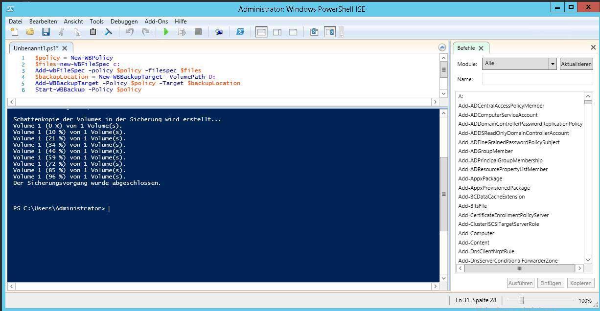Script Vorbereitung für PowerShell