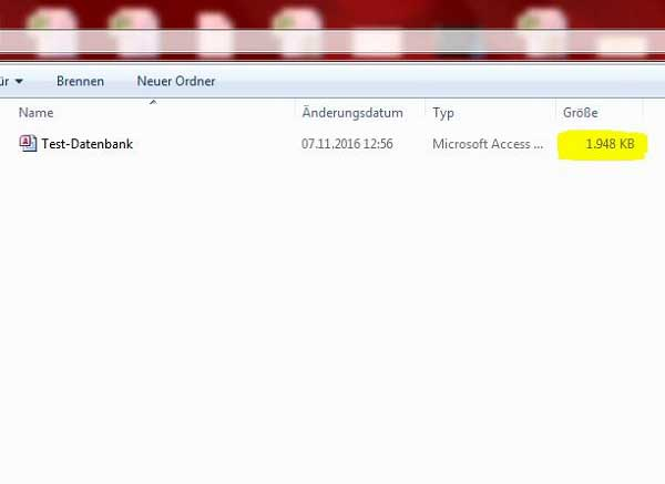 Komprimierte Microsoft Access Datenbank