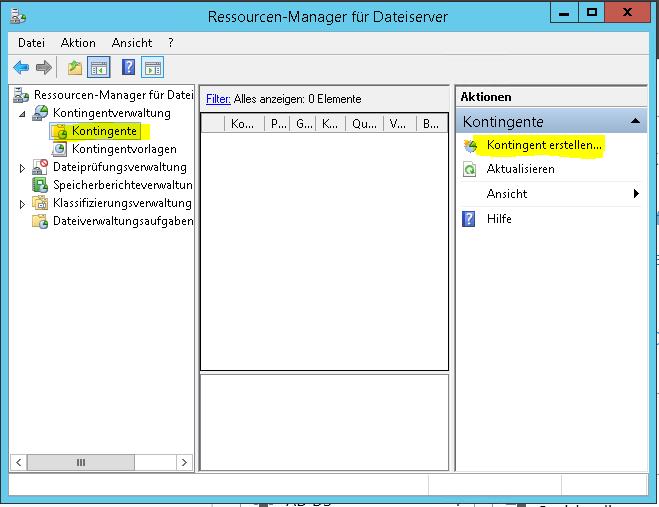 Windows Server 2012 Dateiverwaltung