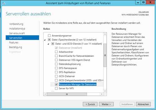 Ressourcen Manager für Dateiserver