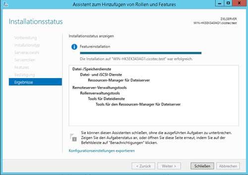 Tools für Dateidienste installieren