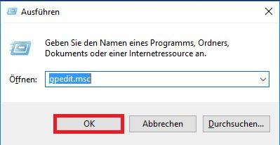 Windows 10 Ausführen