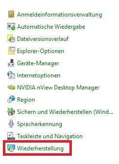 Windows 10 Systemwiederherstellung