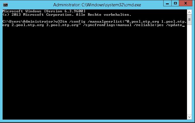 Server mit externen Zeitservern synchronisieren