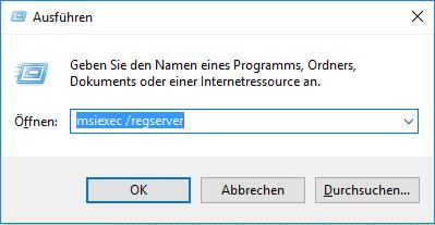 Installer Dienst registrieren