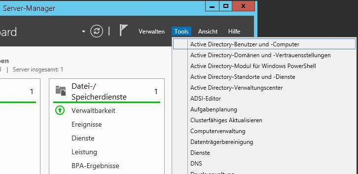 Active Directory Benutzer