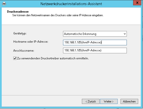 Windows Server Netzwerkdrucker