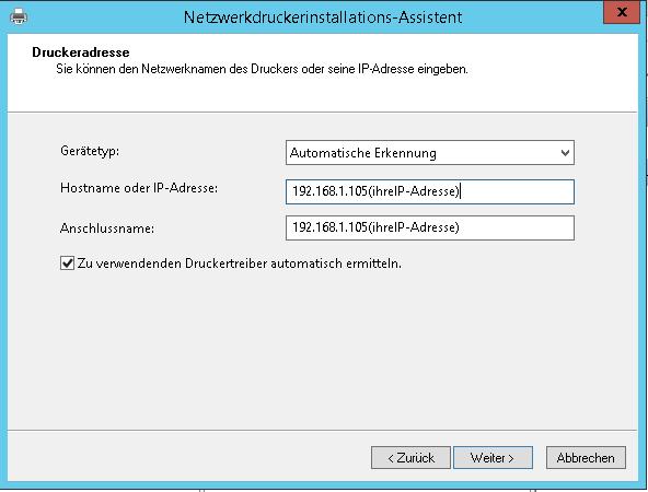 Windows Server Netzwerkdrucker