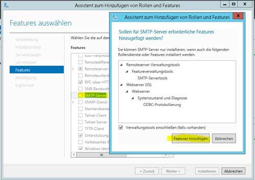 SMTP Server installieren