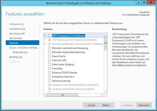 Druckfreigabe zwischen Server und Client