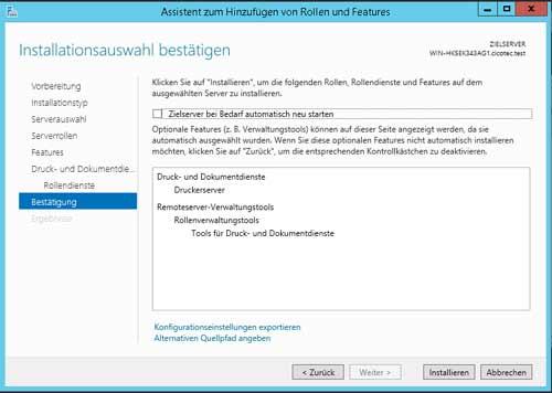 Server Tools installieren