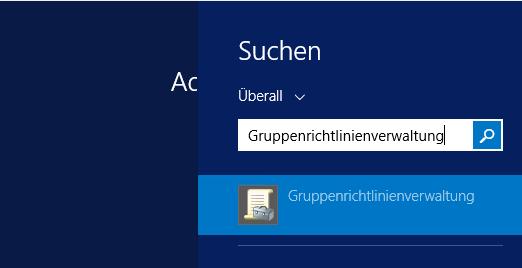 Windows Server Suchoptionen