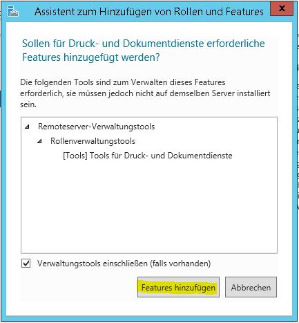 Windows Druckdienste Features