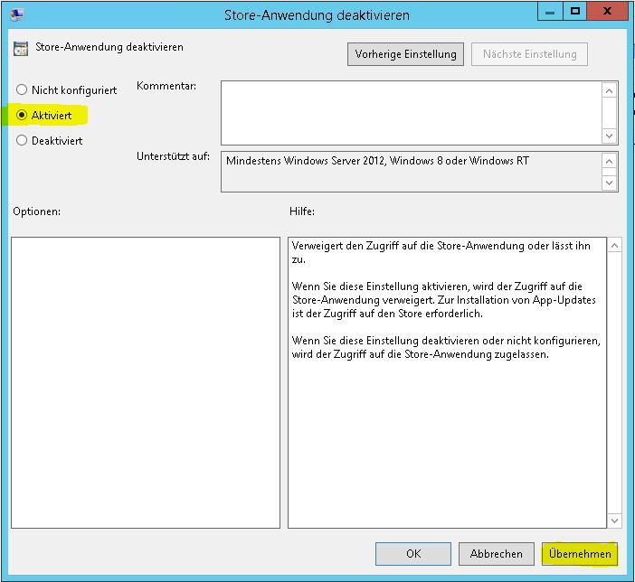 Windows Store Richtlinie